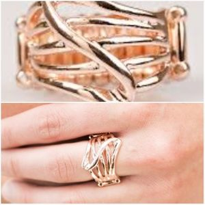 paparazzi Jewelry - HEAD OVER SHIMMER ROSE GOLD RING